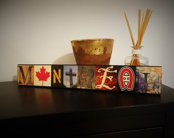 Montreal wooden art