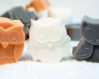 Owl Soap, Bird Party Favors, Soap Gift Set, Kids Novelty Soap, Animal Lovers Soap, Glycerin Soap, Melt and Pour, Vegan Soap, Palm Free Soap