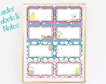 Easter Labels and Notes