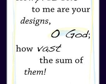 Psalm 139:17 Print