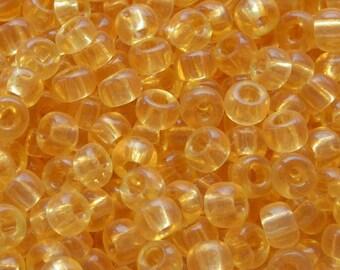 Seed Beads, Miyuki Seed Beads, Japanese Seed Beads, Glass Seed Beads, Miyuki Beads, Gold Beads,  Beading Supplies, 8/0 Light Topaz, 10g