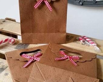 1 x 17x12x6cm Brown gift box