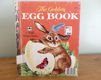 Vintage Little Golden Book, The Golden Egg Book, copyright 1975 in good condition.   Edgeworn and ex-library copy.