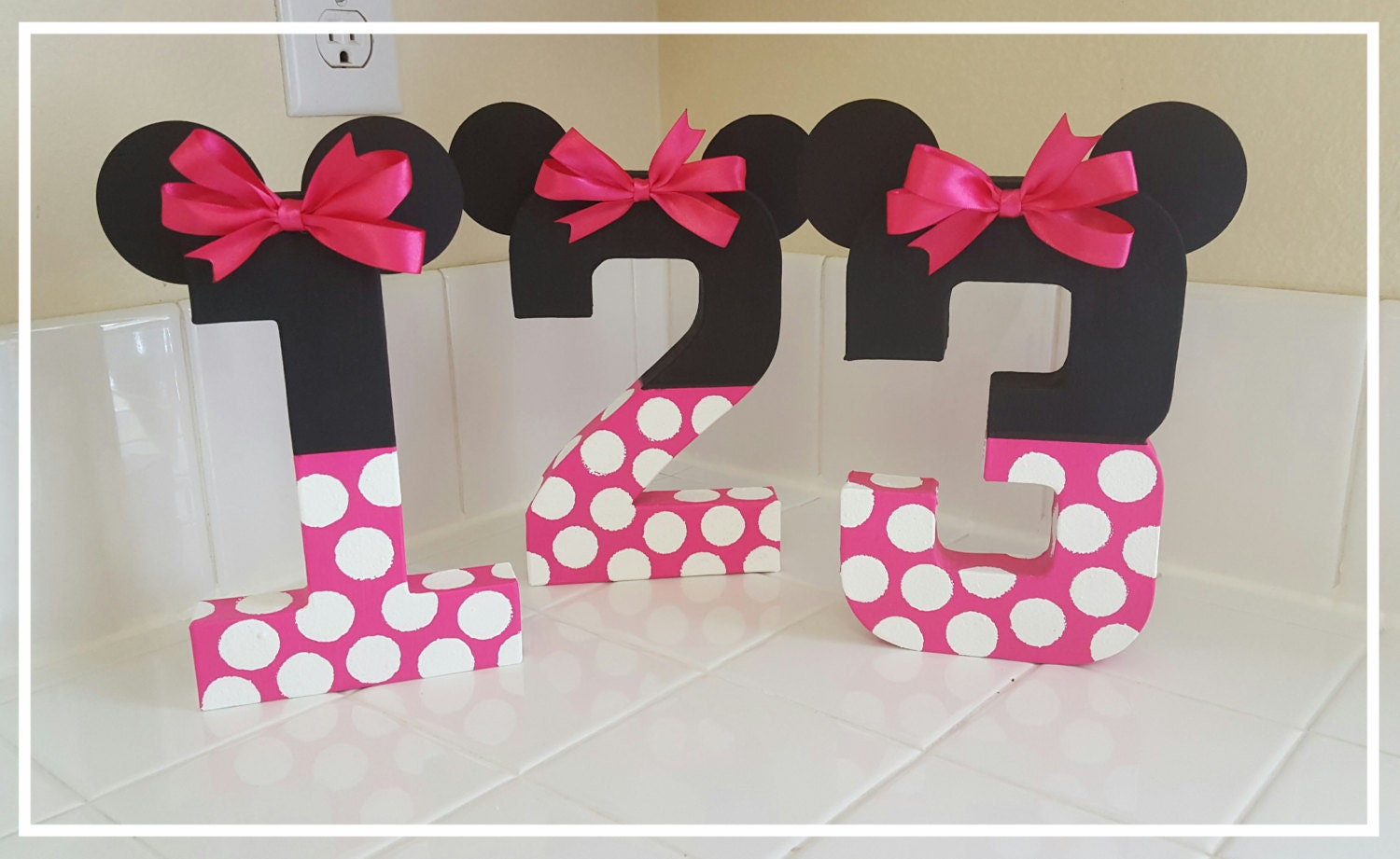 Minnie mouse inspired photo prop minnie mouse birthday