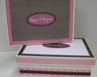 TWIN Girls Keepsake Boxes- Personalized