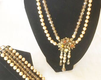 1940's Parure Set unsigned attributes of Miriam Haskell