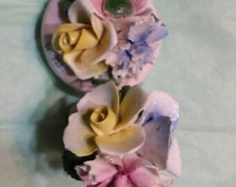 Beautiful colorful porcelain flowers