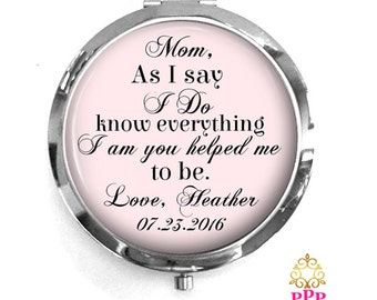 Mother of the Bride Compact Purse Mirror Style 664