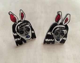 Goth Bunny Earrings