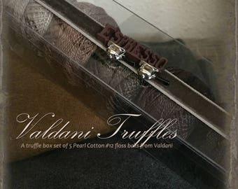 Valdani Thread: Gift Set/5 Perle Cotton Embroidery Thread Balls - Espresso Collection