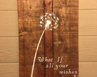 Wooden Dandelion Art