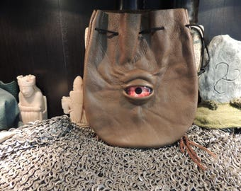 Medium bag---Olivey Brown   leather with Red Eye
