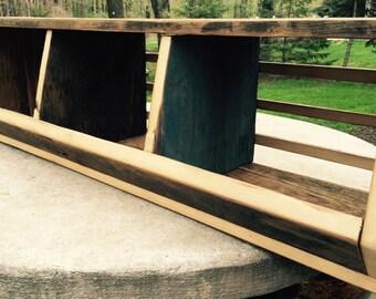 Stackable reclaimed wood storage bins