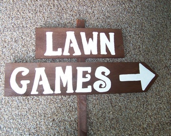 game signs, Wedding signs, lawn games, yard game Signs, outdoor weddings, corn hole game, ladder golf, rustic signs, wood signs,  party sign