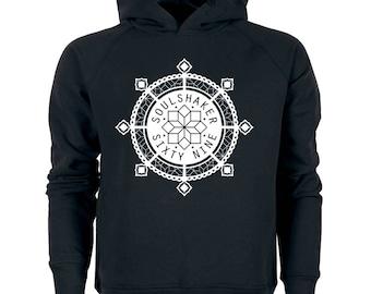 Soulshaker mandala hoodie in grey