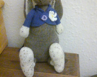 Gorgeous hand knitted rabbit