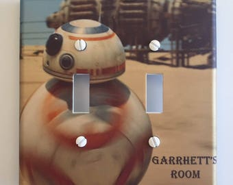 Star Wars BB-8 light switch cover The Force Awakens // Personalized // SAME Day SHIPPING**