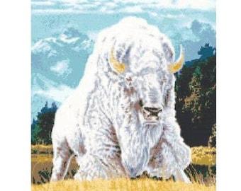White Buffalo Cross Stitch Chart
