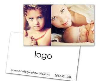 Minimalist Business Card - Photoshop template downloads by Photographer Cafe