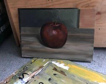 Still life study, apple.