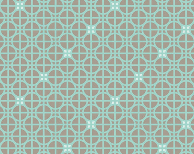 Half Yard Drift - Latticework in Turquoise - Cotton Quilt Fabric - from Angela Walters for Art Gallery Fabrics (W1700)