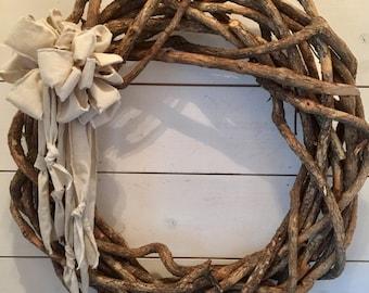XL thick grapevine wreath, extra large wreath, large wreath, rustic wreath, primitive wreath, farmhouse wreath, wall decor, home decor