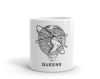 Queens Flushing New York Unisphere Design Mug