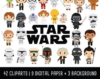 Space wars Clipart Bundle, Space Wars clipart, space character clipart, Space wars party, Instant Download PNG - Free commercial use