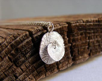 Pod Necklace, Sterling silver, Nature Lover, Minimal Pendant, Gifts for Her, Botanical Jewelry, Under 60