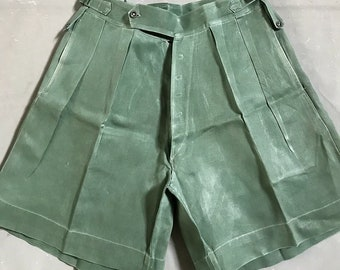 Vintage British Military Og Shorts 1950s in Great Britain RARE 33