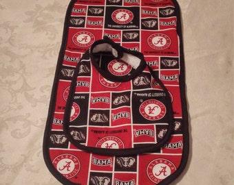 Alabama Crimson Tide Baby Bib and Burp Cloth Set