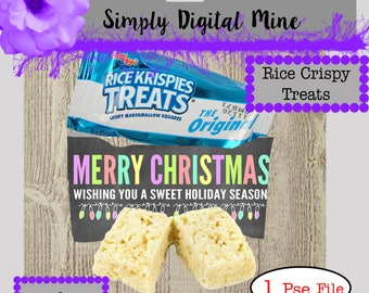 Show off your design with this Mock-up for your Rice crispy Treat Labels.. 1 PSE File