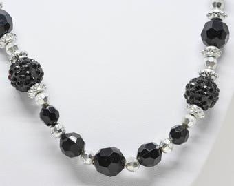 Lovely black tone necklace