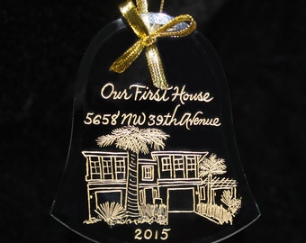 Ornament, House Warming First Christmas in New Home, Your Home Custom Engraved
