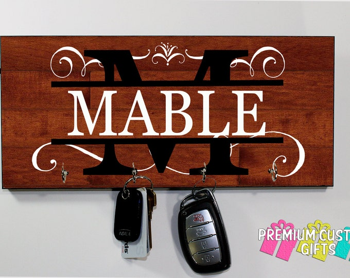 Family Keys Gift - Personalize Wedding gift - Personalized Wall Name - Holiday Gift - Anniversary - grand parent - Design #KH155