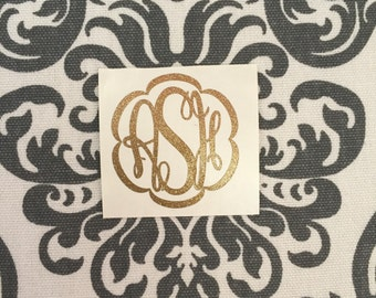 Glitter Monograms (Silver, Turquoise, Gold, Green, Pink, Purple, Black, or Red)
