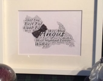 West Highland Terrier personalised picture