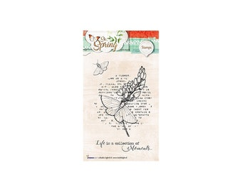 Stamp Clear StudioLight Basics So Spring, Flower Butterfly Vintage new text Nr.283