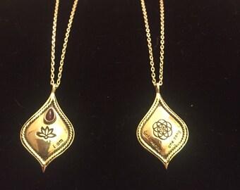 """I Am, Amethyst, 925 Silver Pendant & 17"""" Chain"""