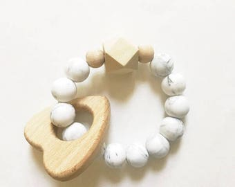 Marble silicone teething toy