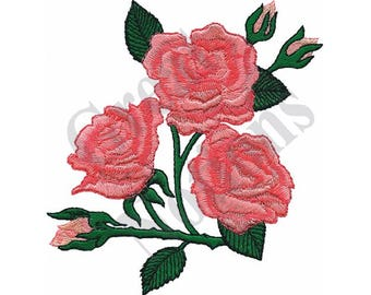 Large Roses - Machine Embroidery Design