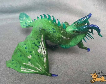 Dragon wyvern handmade figurine sculpture OOAK Original Winged Fire-breathing Creature - ready to ship