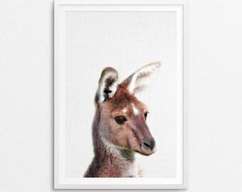 Kangaroo Print, Outback Wall Art, Nursery Decor, Kids Room Poster, Digital Download, Kangaroo Printable, Nursery Wall Art, Nursery Printable