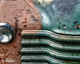 Rusty Truck, Automotive Art, Large Wall Art Print, Classic Chevy Truck, Antique Truck, Classic Car Decor, Chevorlet