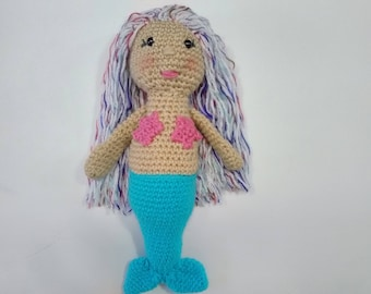 14 inch crochet mermaid soft toy  baby shower gift  nursery decoration