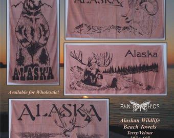 Alaskan Wildlife Beach Towels