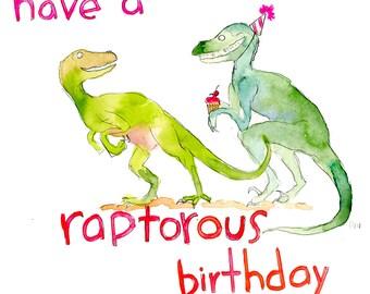 Have a Raptorous birthday