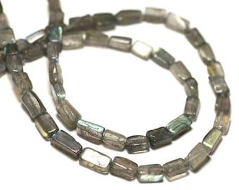 Thread 39cm 48 - 56pc env - beads of stone - Labradorite Rectangles 5-12mm - 8741140025783