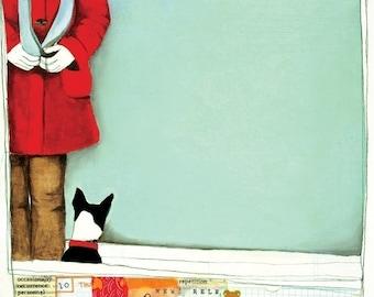 Boston Terrier Art - Boston Terrier Dog - Dog Art - Dog Print - Wall Art Print - Gift for Dog Lover - Little Dog - Terrier - Two  Friends
