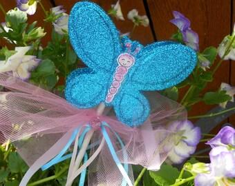 Butterfly Glitter Birthday Wand Photo Prop